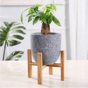 Bamboo Wooden Plant Stand